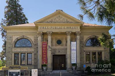 Petaluma Free Public Library And Petaluma Museum Petaluma California Usa Dsc3780 Art Print by Wingsdomain Art and Photography