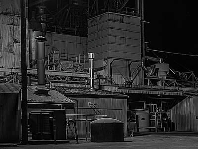 Feed Mill Photograph - Petaluma Mill Black And White by Bill Gallagher