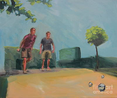 Painting - Petanque 6 by Chris Willems