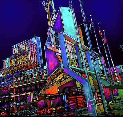 Painting - Petco Park by DC Langer