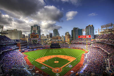 Baseball Fields Photograph - Petco Park Opening Day by Shawn Everhart