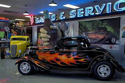 Photograph - Pete And Jakes Hot Rod Parts Show Room by Tim McCullough