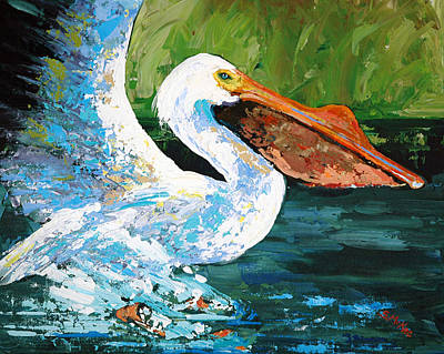 Painting - Pete Coming In For A Landing by Suzanne McKee