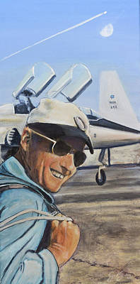 Nasa Painting - Pete Conrad by Simon Kregar