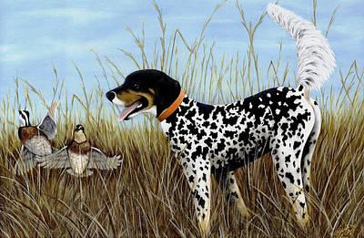 Setter Pointer Painting - Pete by Deborah Collier