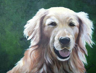 Art Print featuring the painting Pete by Nancy Jolley