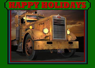 Art Print featuring the digital art Pete Ol' Yeller Happy Holidays by Stuart Swartz