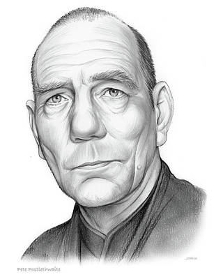 Drawing - Pete Postlethwaite by Greg Joens
