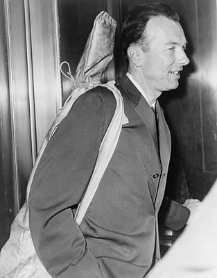 Pete Seeger B. 1919 Arrives At Federal Print by Everett