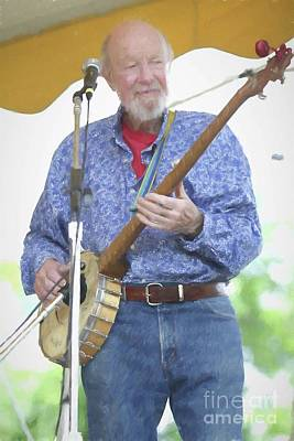 Photograph - Pete Seeger Painting by Concert Photos