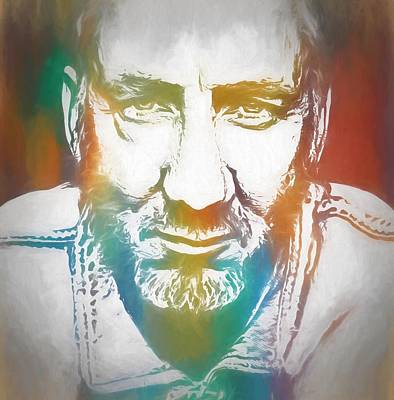 Music Paintings - Pete Townshend Color Tribute by Dan Sproul