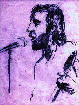 Pete Townshend Celebrity Drawing - Pete Townshend by David Ritsema