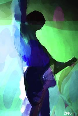 Robert Plant Mixed Media - Pete Townshend  by Enki Art