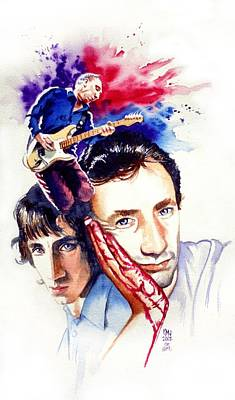 Musicians Painting - Pete Townshend by Ken Meyer