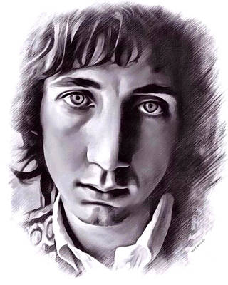 Keith Moon Digital Art - Pete Townshend Portrait by Scott Wallace