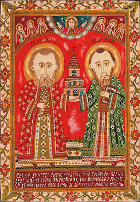 Byzantine Painting - Peter And Paul by Ana Dragan