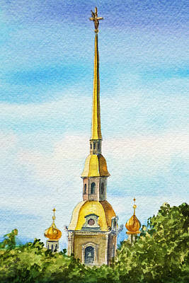 Painting - Peter And Paul Cathedral Saint Petersburg Russia by Irina Sztukowski
