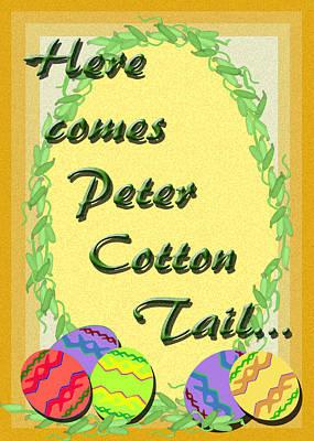 Digital Art - Peter Cotton Tail by Michelle Audas