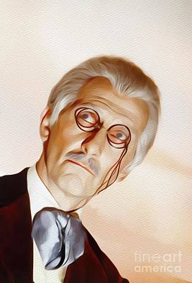 Painting - Peter Cushing As Doctor Who by John Springfield