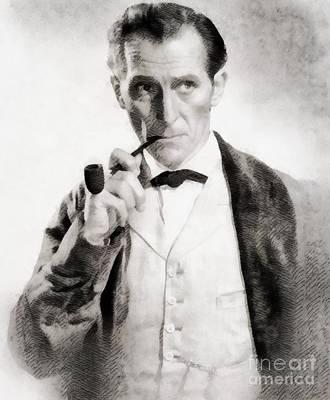 Peter Cushing As Sherlock Holmes Art Print by John Springfield