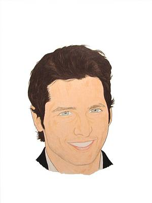 Peter Facinelli Drawing - Peter Facinelli by Michael Dijamco