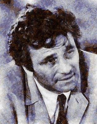 Famous Television Stars Painting - Peter Falk Columbo by Esoterica Art Agency