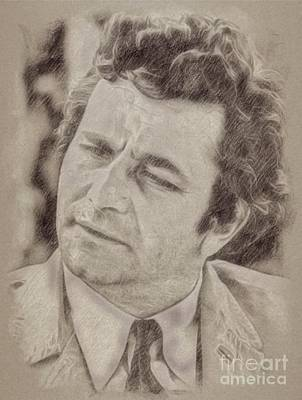 Pinup Drawing - Peter Falk, Columbo by Frank Falcon