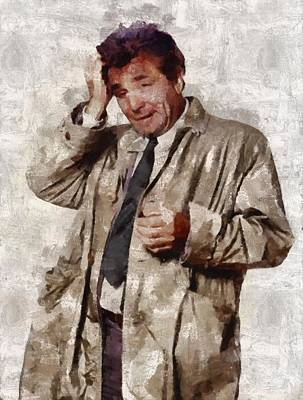 Elvis Presley Painting - Peter Falk, Columbo by Mary Bassett