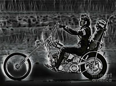 Easy Rider Painting - Peter Fonda Easy Rider Art by Pd