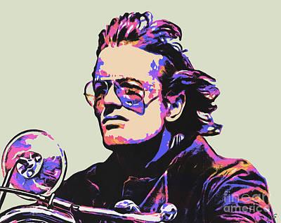 Easy Rider Painting - Peter Fonda by Sergey Lukashin