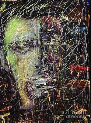 Painting - Peter Gabriel Shock The Monkey by Gayland Morris