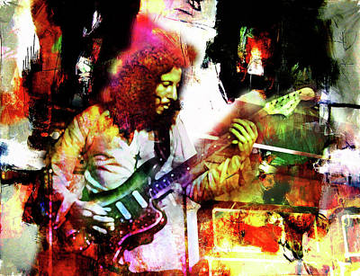 Musician Mixed Media - Peter Green by Mal Bray