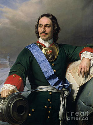 Moustache Painting - Peter I The Great by Delaroche
