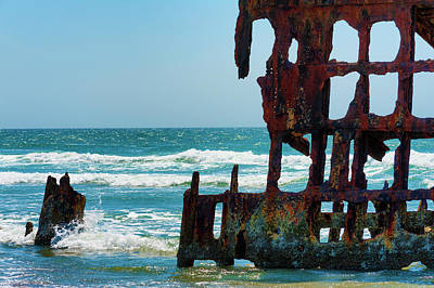 Photograph - Peter Iredale Shipwreck II by Dee Browning