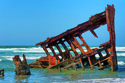 Photograph - Peter Iredale Shipwreck Iv by Dee Browning