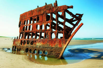 Photograph - Peter Iredale Shipwreck Vi by Dee Browning