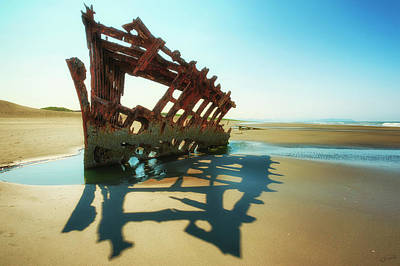 Photograph - Peter Iredale Shipwreck Vii by Dee Browning