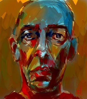 Painting - Peter by Jim Vance