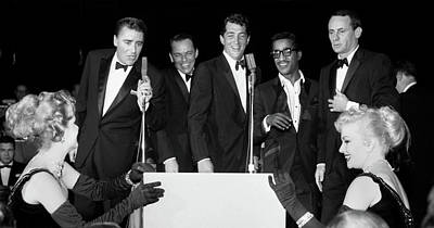 Photograph - Peter Lawford, Frank Sinatra, Dean Martin, Sammy Davis Jr. And J by Doc Braham