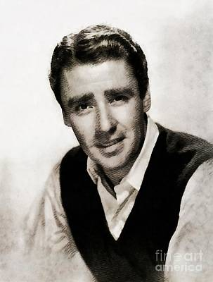 Peter Painting - Peter Lawford, Vintage Actor by John Springfield