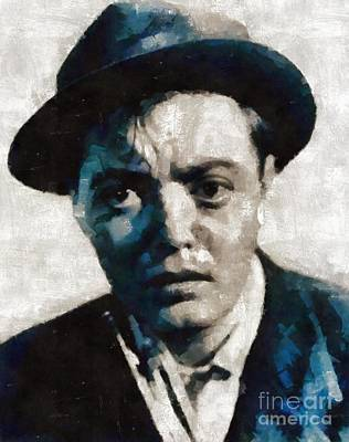 Elvis Presley Painting - Peter Lorre Hollywood Actor by Mary Bassett