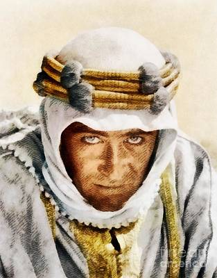 Peter Painting - Peter O'toole As Lawrence Of Arabia By John Springfield by John Springfield