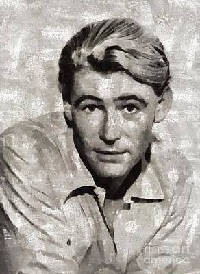 Peter Painting - Peter O'toole, Vintage Actor by Mary Bassett