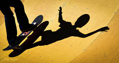 Photograph - Peter Pan Skate Boarding by Philip Rispin