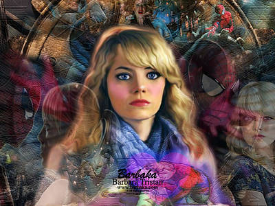 Digital Art - Peter Parker's Haunting Memories Of Gwen Stacy by Barbara Tristan