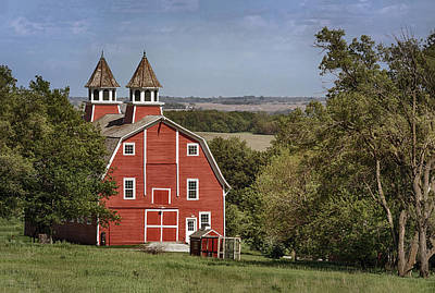 Cartoons Tees - Peter Peterson Barn by Susan Rissi Tregoning