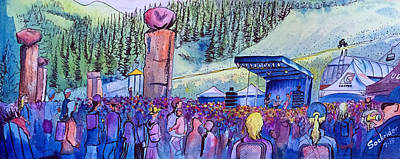 Good Times Painting - Peter Rowen At Copper Mountain by David Sockrider
