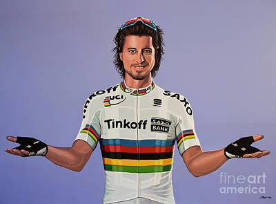 Peter Sagan Painting Art Print by Paul Meijering