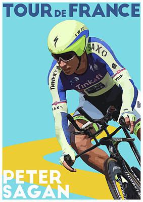 Giro Digital Art - Peter Sagan by Semih Yurdabak
