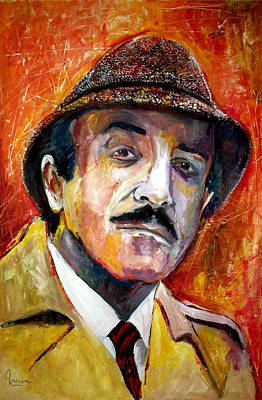 Pink Panther Painting - Peter Sellers - Inspector Clouseau by Marcelo Neira